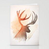 Sunlight Deer Stationery Cards