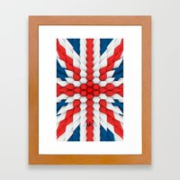 3d Poly Union Jack  Flag Framed Art Print