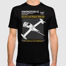 Swordfish Service and Repair Manual SMALL Black Mens Fitted Tee