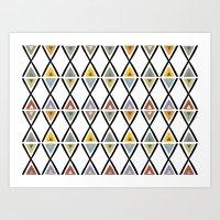 GOLDEN TRIANGLES Art Print