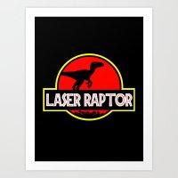 Laser Raptor Art Print