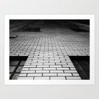 Hit the Bricks Art Print
