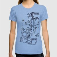 Project 5 Sab Womens Fitted Tee Athletic Blue SMALL