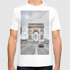 Arc de Triomphe 1 Mens Fitted Tee White SMALL