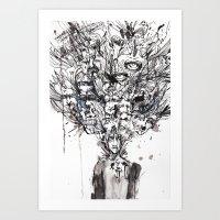 Woke Up Art Print