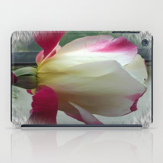White Rose iPad Case