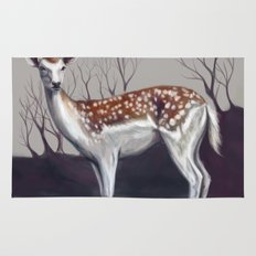 Deer in the forest Rug