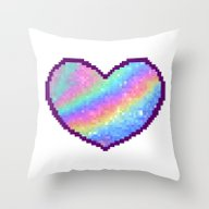 Holographic Heart Throw Pillow
