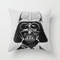 Darth Vader portrait Throw Pillow