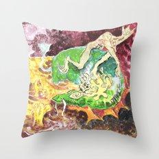 A Strange Meeting Throw Pillow