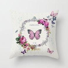 Papillons Throw Pillow