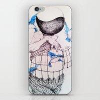 Human flight iPhone & iPod Skin