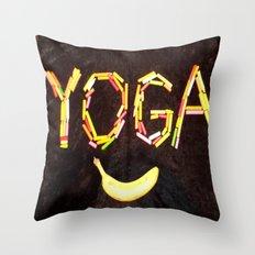 YOGA-B-SMILE Throw Pillow