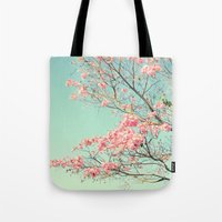 Spring Kissing The Sky Tote Bag