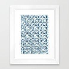 tile pattern IV - Azulejos, Portuguese tiles Framed Art Print