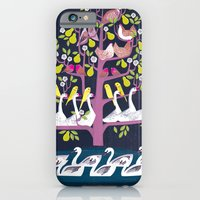 7 Days of Christmas or ∑ summation of holiday birds iPhone 6 Slim Case