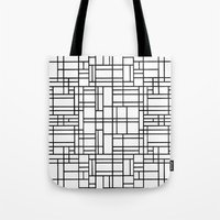 Map Outline Black On Whi… Tote Bag