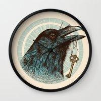 Raven's Head Wall Clock