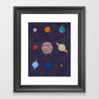 The 9 Planets! Framed Art Print