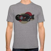Happy New Fish  Mens Fitted Tee Athletic Grey SMALL