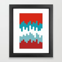 Drips And Drops - Smurf Framed Art Print