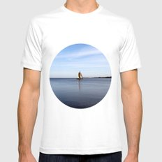 nida White Mens Fitted Tee SMALL