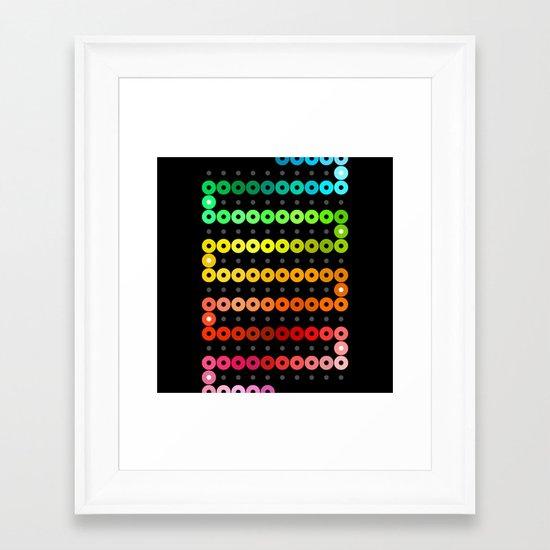 Rainbow Chain Framed Art Print
