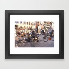 Artists at Piazza Navona (waiting for something to do) Framed Art Print