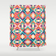 Colorful Geometric Shower Curtain