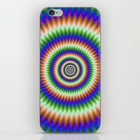 Sliding Rings in Orange Blue and Green iPhone & iPod Skin