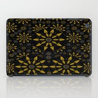 Merry Gold Stars And Sil… iPad Case