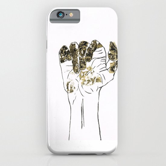 Golden hand iPhone & iPod Case