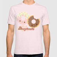 Sweet Doughnuts Mens Fitted Tee Light Pink SMALL