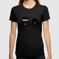 Bonnie & Clyde Womens Fitted Tee Tri-Black SMALL