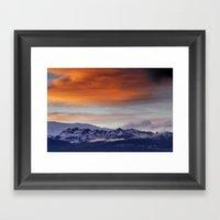 Alayos Mountains. Sunset landscapes Framed Art Print