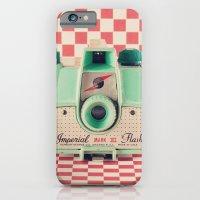 Mint Retro Camera On Red… iPhone 6 Slim Case