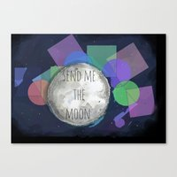 Send Me The Moon Canvas Print