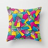 Street Squares Throw Pillow