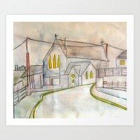 Galway Church. Art Print