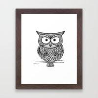 Hoot! Says The Owl Framed Art Print