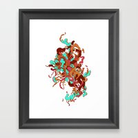 Headspace 03 - Blue Framed Art Print
