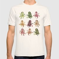 9 Octopuses Mens Fitted Tee Natural SMALL
