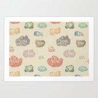 You Rock (Pattern) Art Print