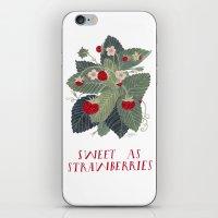Sweet As Strawberries iPhone & iPod Skin