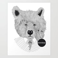 Morning bear Art Print