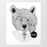Morning Bear Art Print