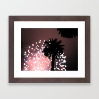 Fireworks Over Santa Bar… Framed Art Print