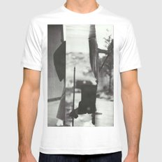 Caribou White SMALL Mens Fitted Tee
