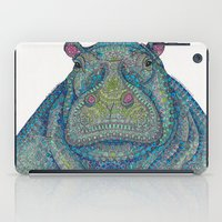Hippie-Potamus (Blue) iPad Case
