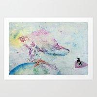 Alien Cow Innoculates Earth Art Print